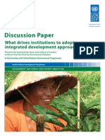 What drives institutions to adopt 