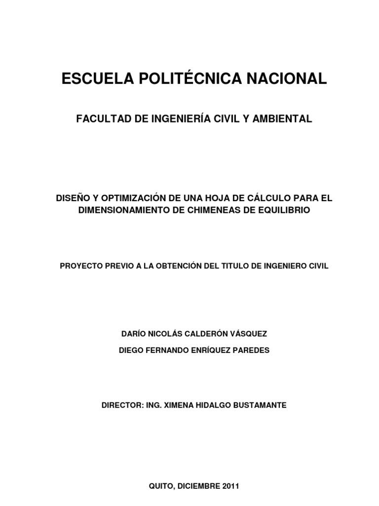 Chimenea de Equilibrio PDF