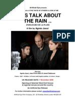 2008 Let's Talk About the Rain (parlez-moi de la pluie) by Agnes Jaoui with Jean-Pierre Bacri and Jamel Debbouze - pressbook in English