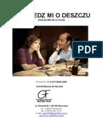 Parlez-Moi de La Pluie by Agnes jaoui with Jean-Pierre Bacri and Jamel Debbouze - Pressbook in Polish