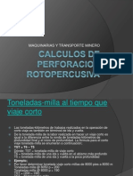 Calculos de Perforacion Rotopercusiva