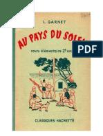 Langue Française Garnet. L 03 CE1-CE2-CM1-CM2 Au Pays du Soleil 1956 (Spécimen)