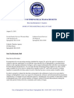 Mayor Domenic Sarno's Letter to Refugee Service Providers 8-21-2013
