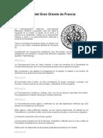 Constitución del Gran Oriente de Francia