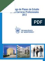 Catálogo de Planes de Estudio de las Carreras Profesionales 2012