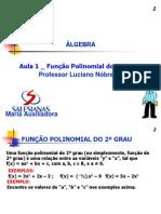 Prof. Luciano Nóbrega - aula Função 2º grau