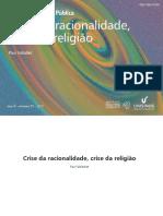 crise da racionalidade, crise da religião
