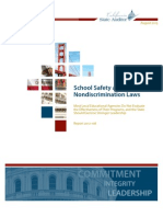 School Safety and Nondiscrimination Laws   Audit