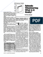 Episodic Volunteering