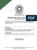Avulso -PL 7528_2010 Porte de Arma Para ABIN