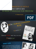 contribution of netaji and surya sen
