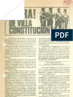 """Villazo"", Villa Constitucion, Argentina 1975 - Volantes"
