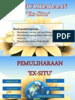 PEMULIHARAAN Ex-Situ