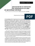 analisis psicosocial de la motivación