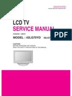 42LG70YD - Service Manual