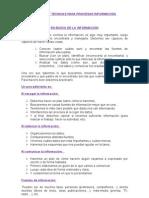 Metodos yTecnicas para procesar informacion