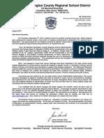Letter to Parents - September 2013