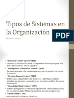 Tipos de Sistemas en la Organización