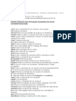 Quadro Resumo Dos Principais Comandos Do Linux