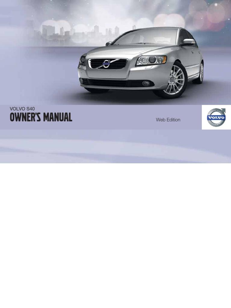 2011 Volvo S40 Repairs Manual Airbag Seat Belt Ignition Wiring Diagram