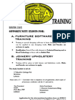 KCDA Free Furniture Design, Joinery & Upholstery Course