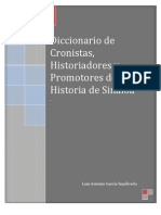 Diccionario de Cronistas e Historiadores de Sinaloa