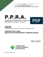 Ppra Rio Claro Igce 2011 2012