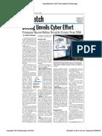 Boeing Unveils Cyber Effort Defense News 31 Oct 11 2011