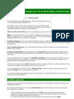 Estrategias Para El Desarrollo de Alianzas en America Latina