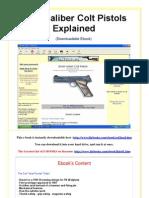 Small Caliber Colt Pistols Explained