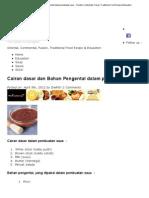 Cairan Dasar Dan Bahan Pengental Dalam Pembuatan Saus - Oriental, Continental, Fusion, Traditional Food Recipe & Education