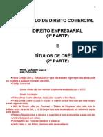 Direito Empresarial Claudio Calo
