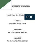Ensayo Calidad Educativa Fidel