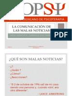 LA COMUNICACIÓN DE LAS MALAS NOTICIAS 1