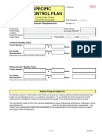12.5 Site Specific Quality Control Plan Template