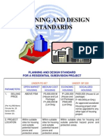 Planning and Design Standards for a Residential Subd
