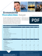 Economische Vooruitzichten België - September 2013