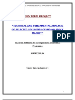 Technical and Fundamental Analysis of Selected Securities of Indian Stock Market