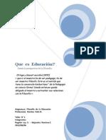 Informe Taller N° 1  Que  es  Educación