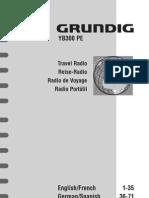 Grundig YB300 AM-FM-HF Reciever Manual