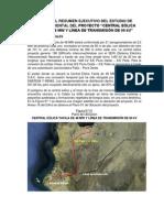 Analisis Del Resumen Ejecutivo Del Estudio de Impacto Ambiental Detaproyecto