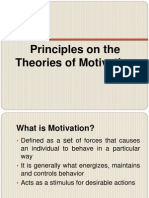 Principles on the Theories of Motivation