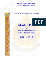 Master Plan for Research Development 2011-2015
