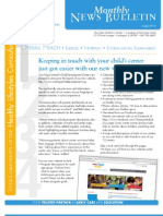 OHU CDC Busy Bee August 2013 Newsletter