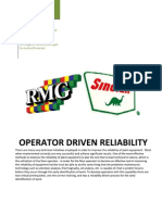 Operator Driven Reliability