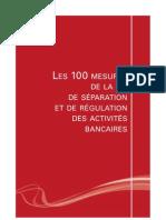Reforme Bancaire 100 Mesures