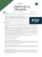 Filosofia de La Religion Uned