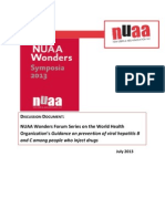 NUAA Discussion Document_WHO Guidance on Viral Hepatitis_2013