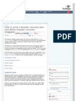 How to Write a DR Plan and Define DR Strategies