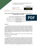 Effect of Polypropylene Fiber, Steel Fiber & Glass Fiber on Properties of Concre